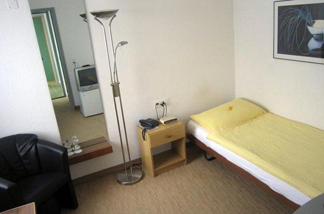 Einzelzimmer im Hotel Elite