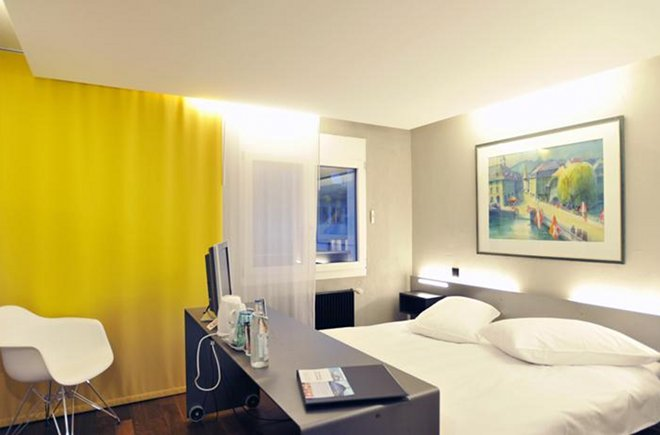 Modernes Zimmer im Hotel Freienhof