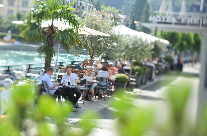 Terrasse vom Freienhof Thun