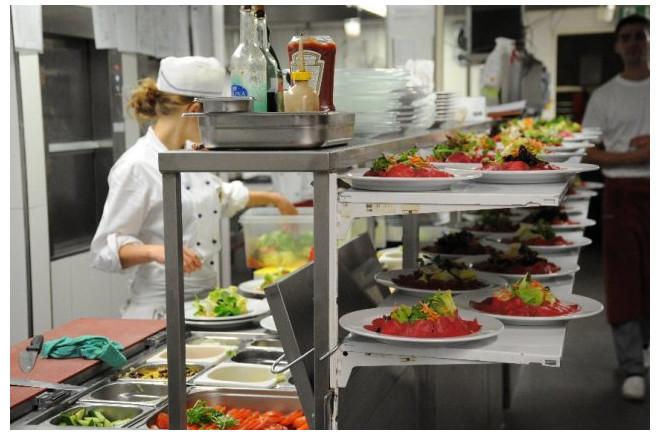 Die Küche im Rathaus beschäftigt Top Köche